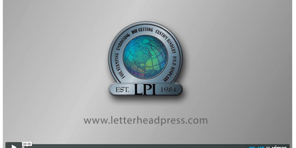 Letterhead Press showcases capabilities with video…